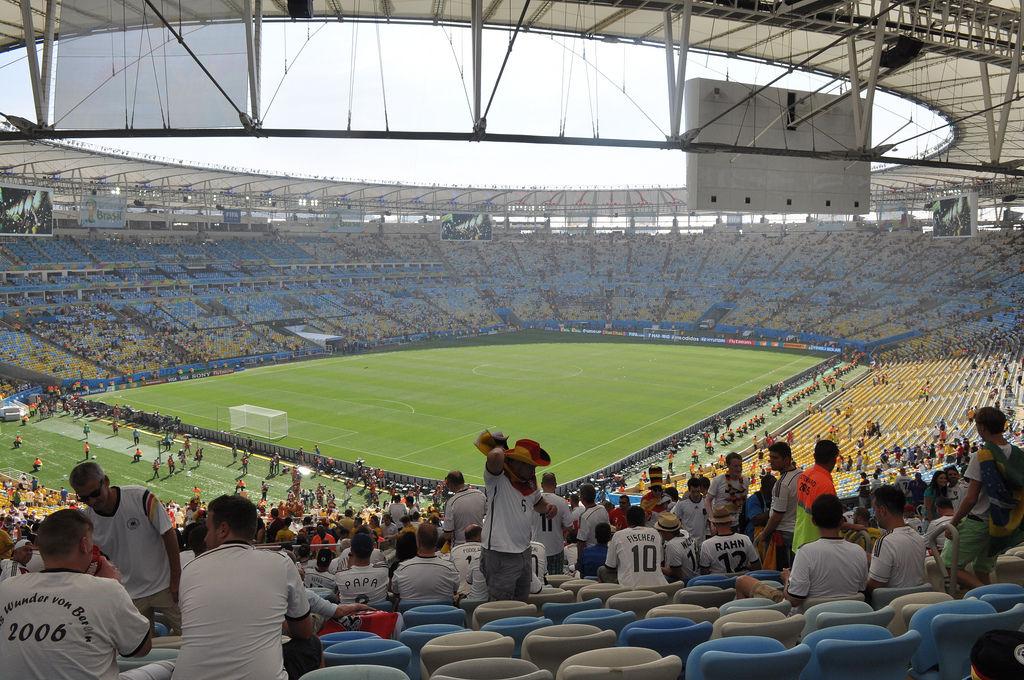 Deutsche Fankurve in Maracana bei der WM 2014 in Brasilien