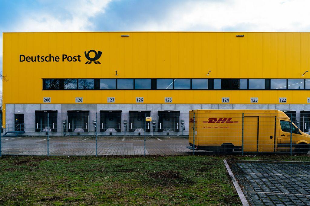 Deutsche Post logistic center in Berlin Charlottenburg up close
