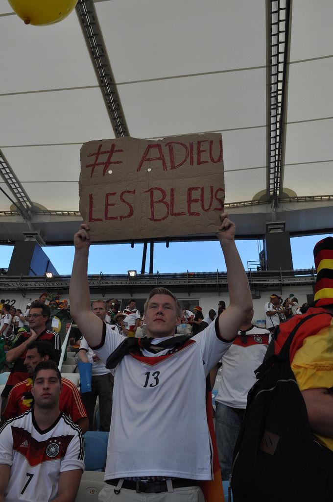 Deutscher Fan bei der WM 2014 in Brasilien