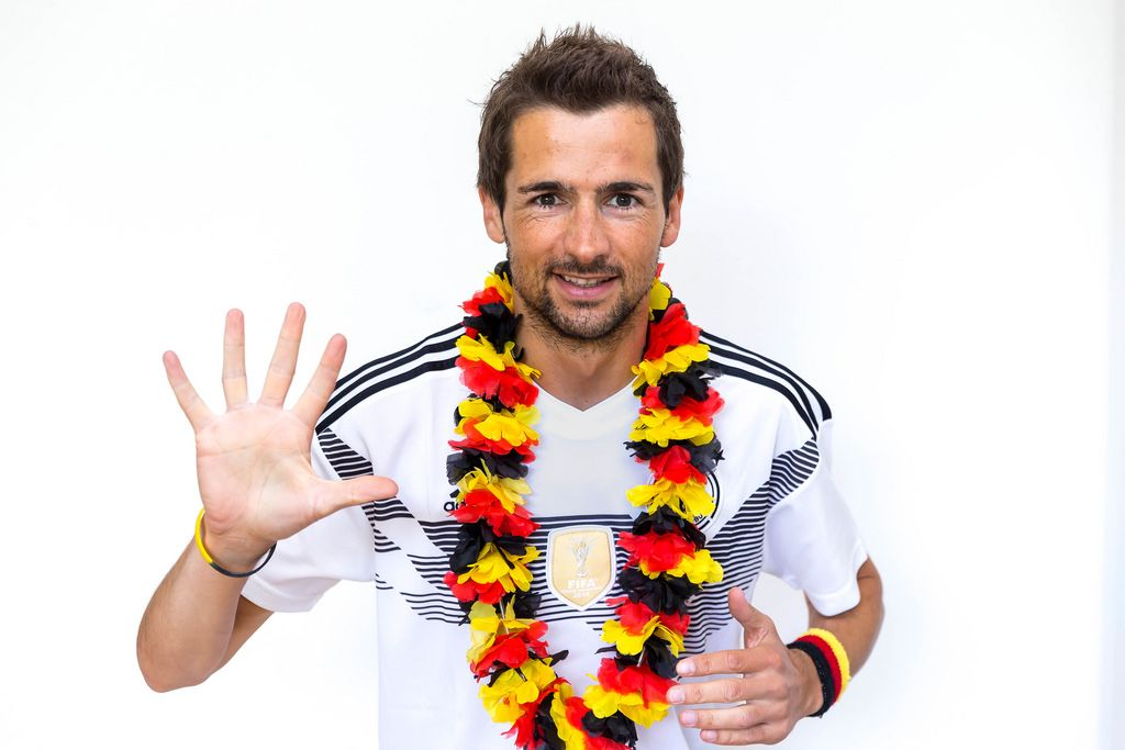 Deutscher Fan freut sich auf den fünften WM-Titel