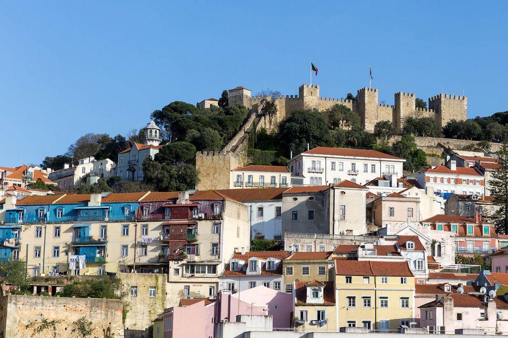 Die Festung Castelo de São Jorge in Lissabon, Portugal