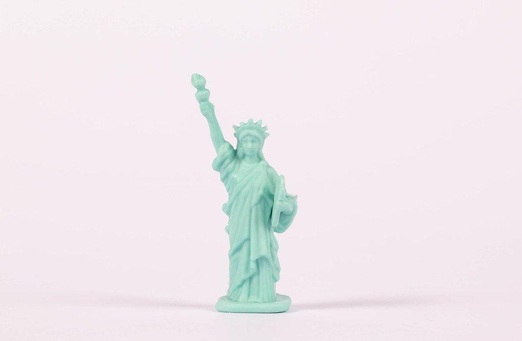 Die Freiheitsstatue als Miniaturfigur
