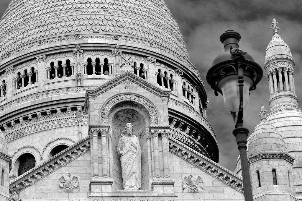 Die Kirche Sacre Coeur am Montmartre in Paris