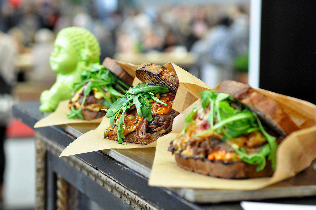 Dinkel-Sandwich mit Rindfleisch und Kürbis