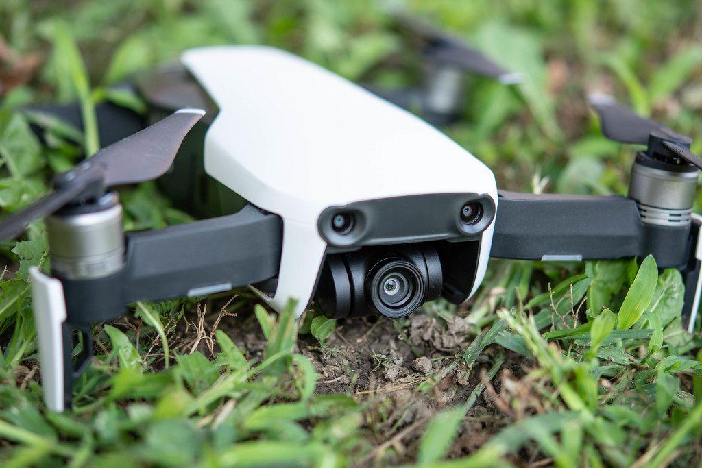 DJI Mavic Air drone in the grass