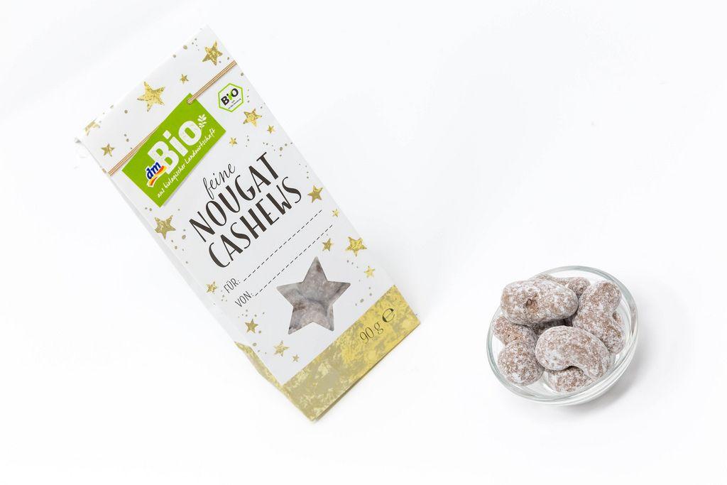 dm Bio - Feine Nougat Cashews in Schale mit Verpackung als Geschenk