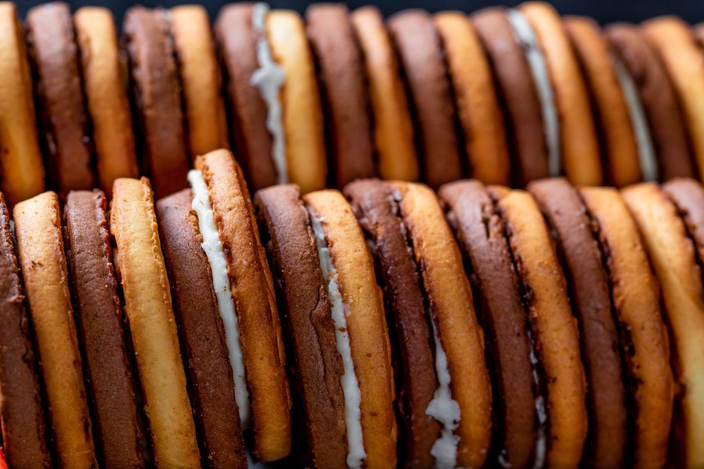 Double layer cookies