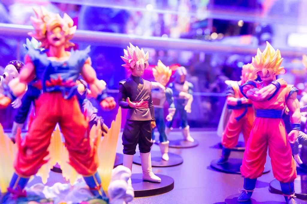 Dragonball Fighter Z action figures - Gamescom 2017, Cologne