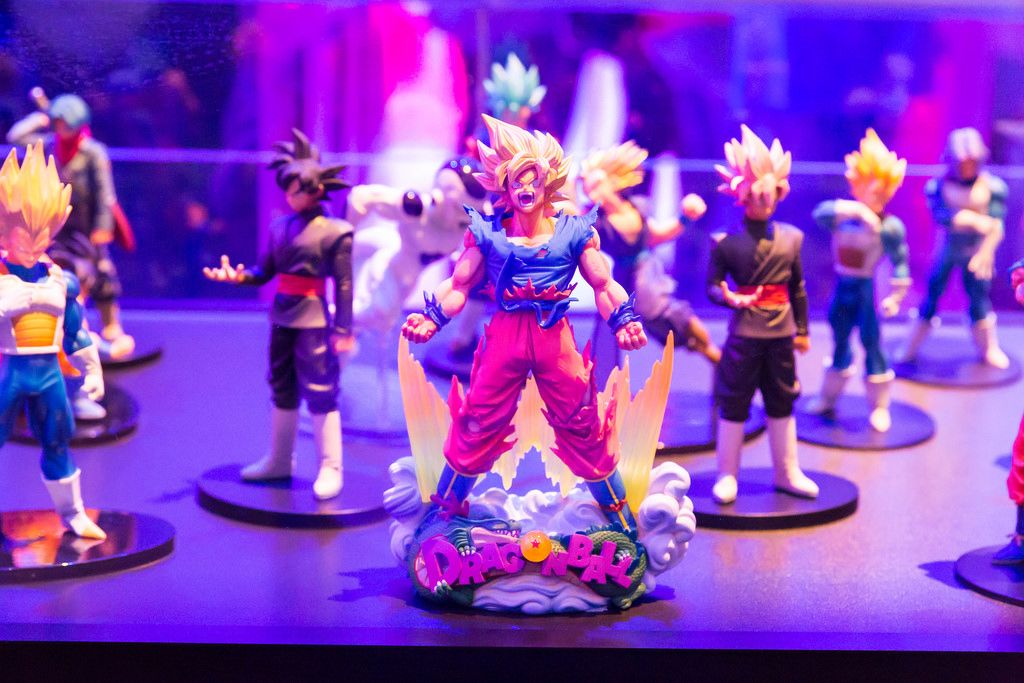 Dragonball Fighter Z Son Goku Super Saiyan action figure - Gamescom 2017, Cologne