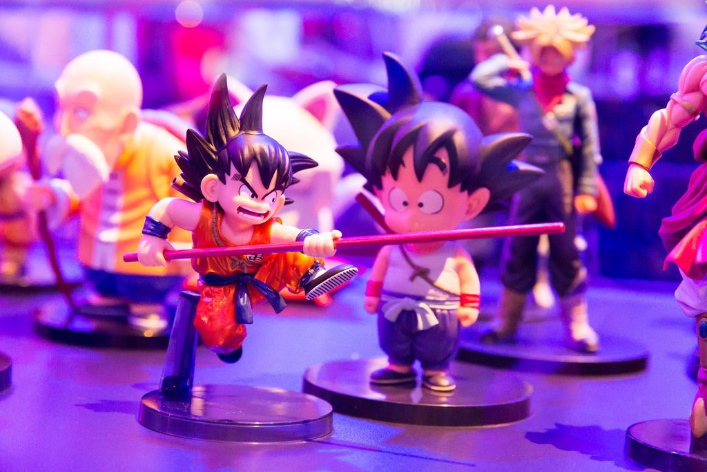 Dragonball Fighter Z Son Goku with stick action figure - Gamescom 2017, Cologne