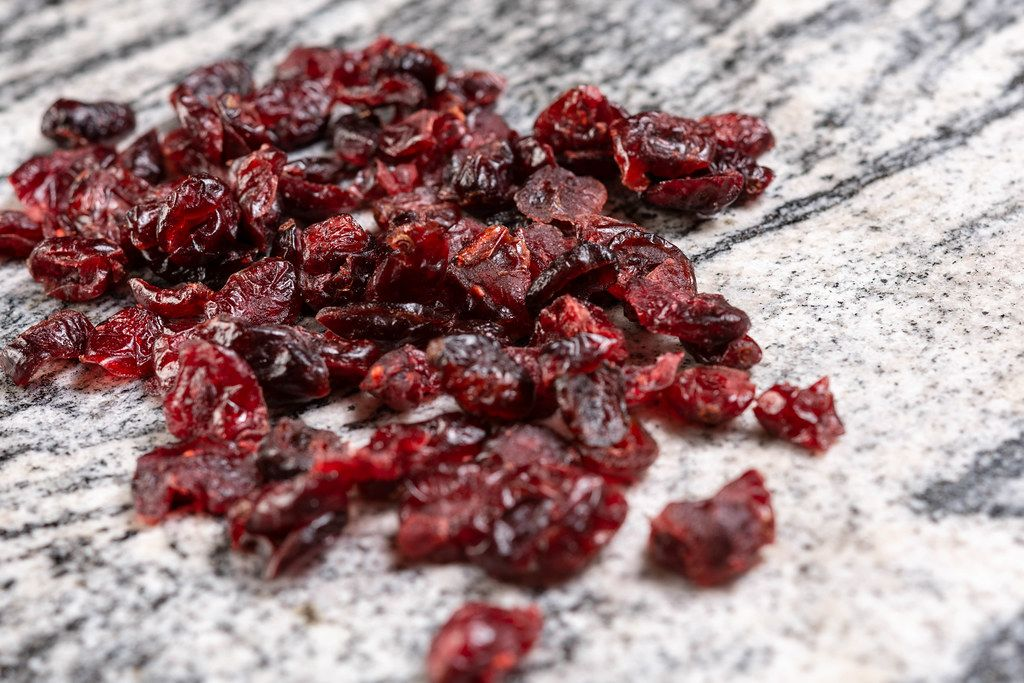 Dried Cranberries on the grey marble (Flip 2019)