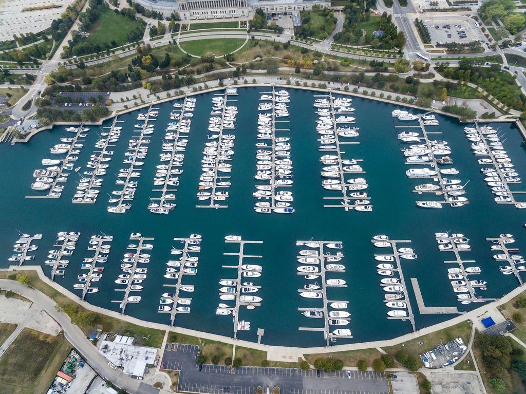 Drohnenfoto: Marina und Northerly Island