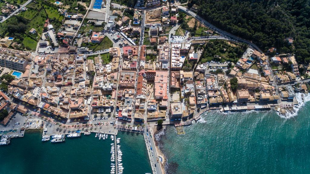 Drohnenfoto von Puerto de Andraitx, Mallorca