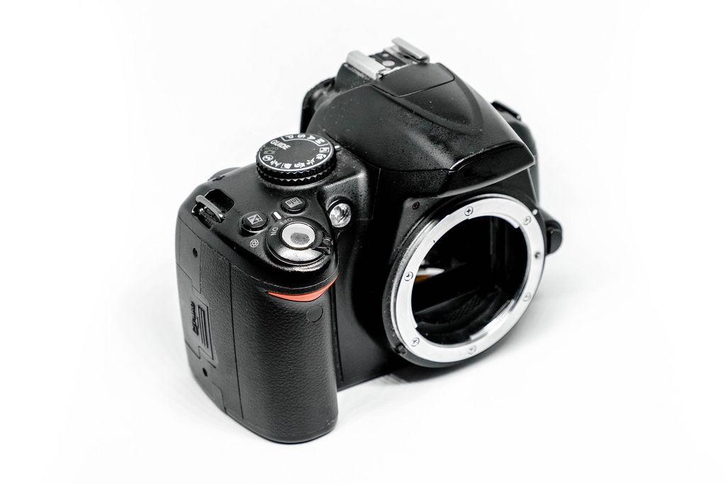 DSLR camera isolated in white background