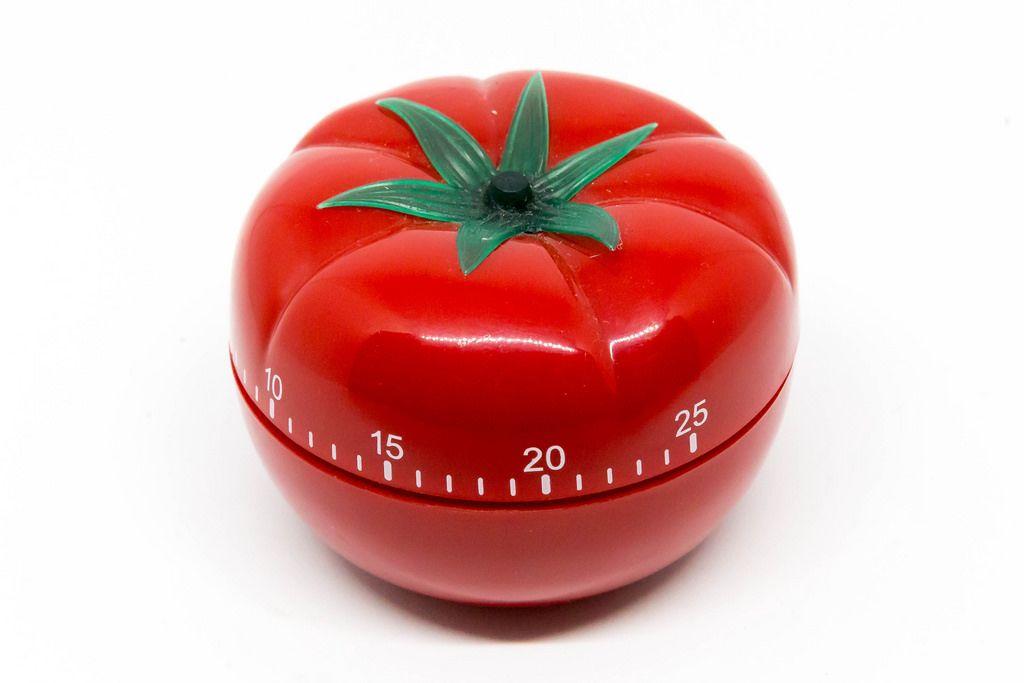 Egg timer in tomato shape for Pomodoro Technique