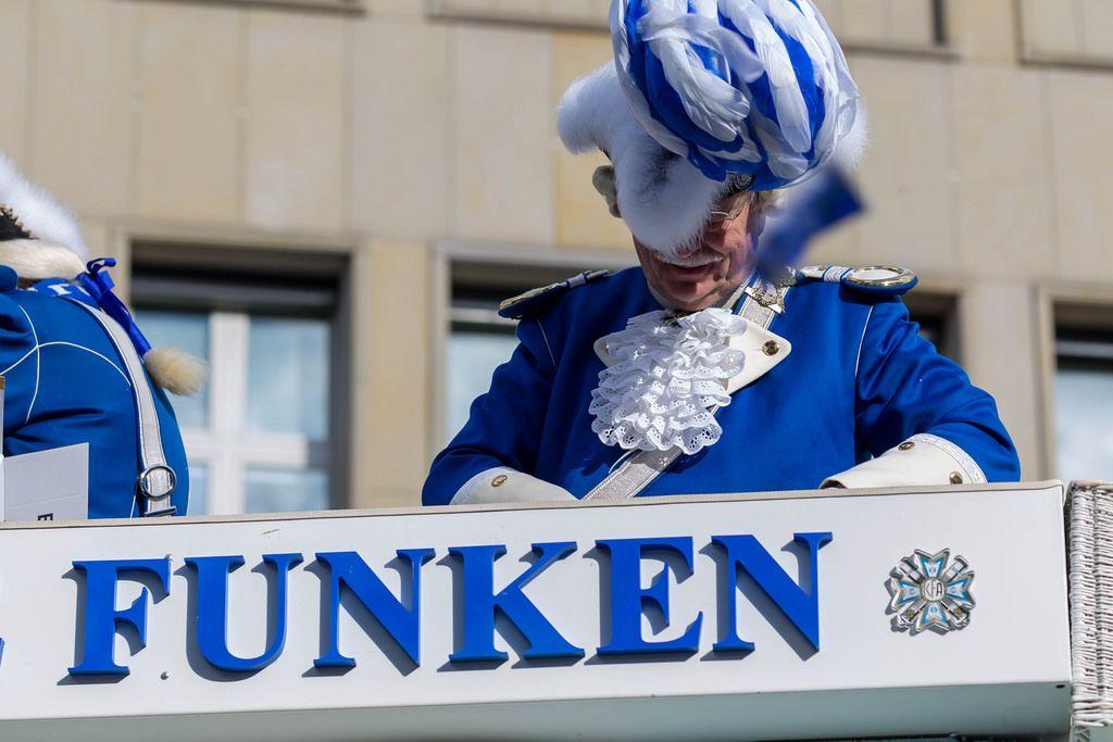 Ein altes Mitglied der Blauen Funken - Kölner Karneval 2018