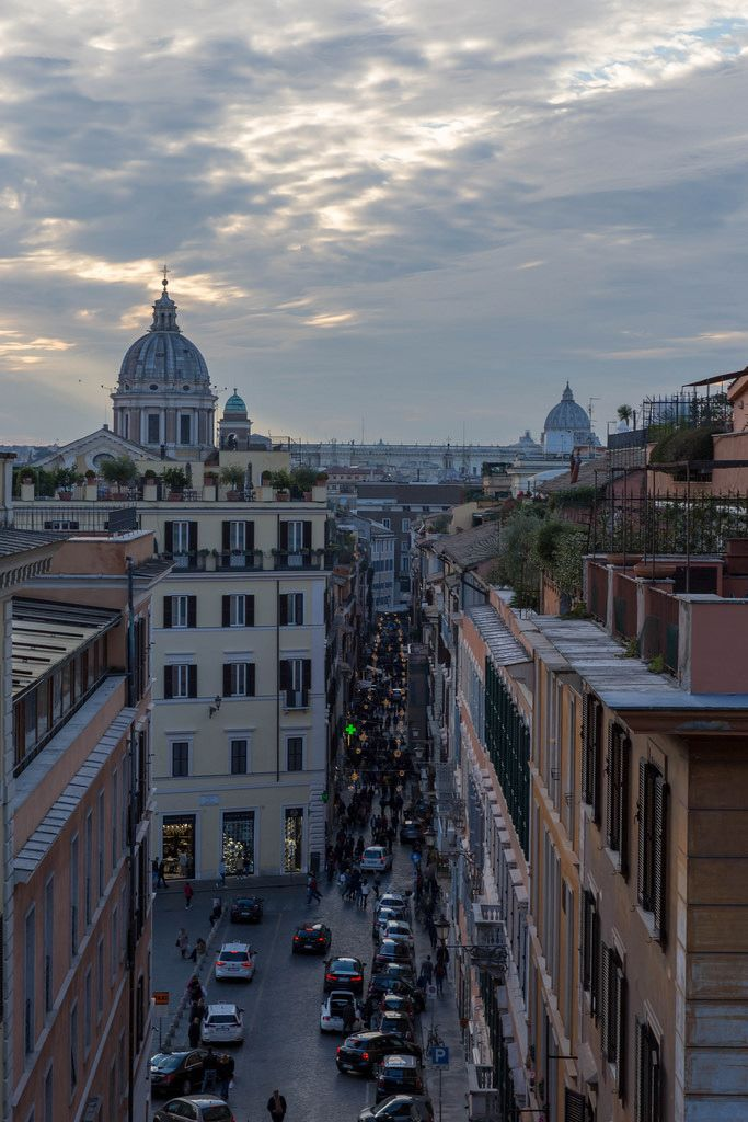 Ein Blick über die Via del Corso
