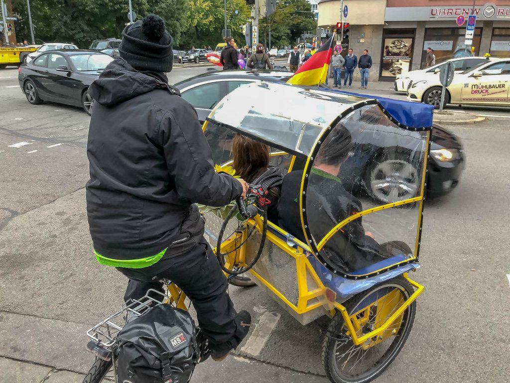 Ein Fahrradtaxi in München