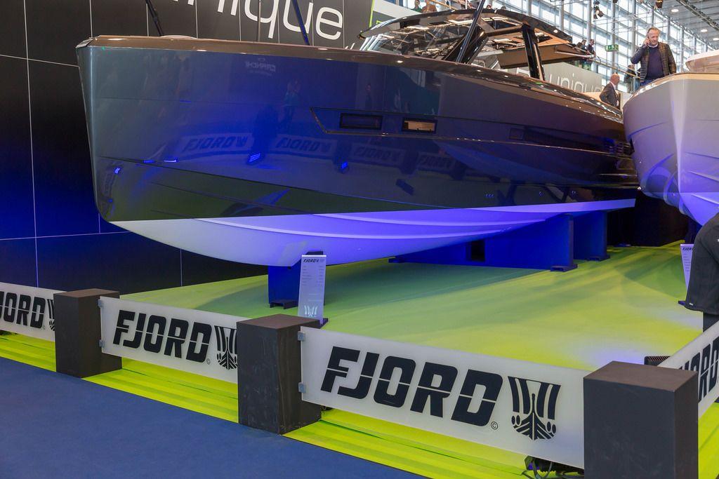 Ein Schnellboot von Fjord - Boot Düsseldorf 2018