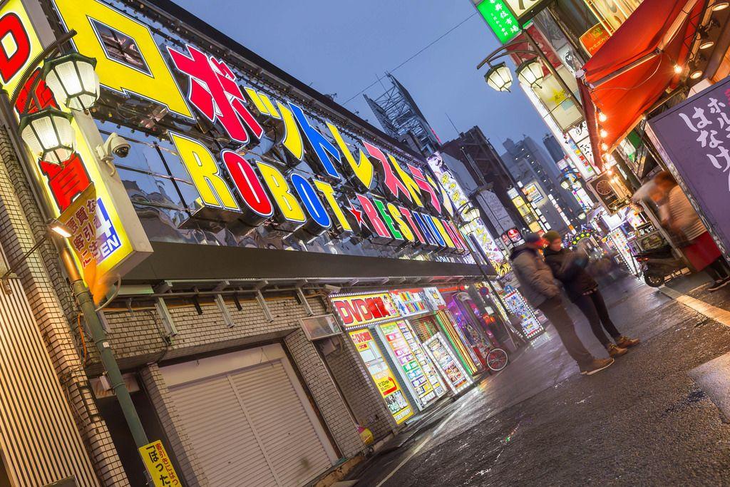 Eingang des Robot Restaurants in Tokio