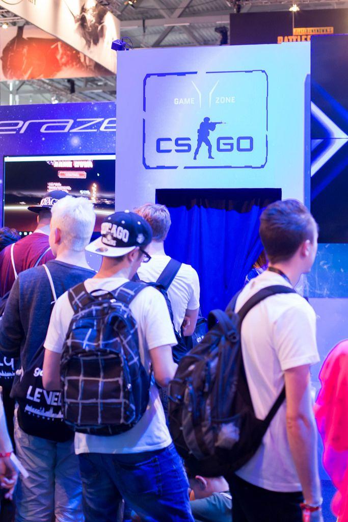 Eingang in den CS GO Messestand
