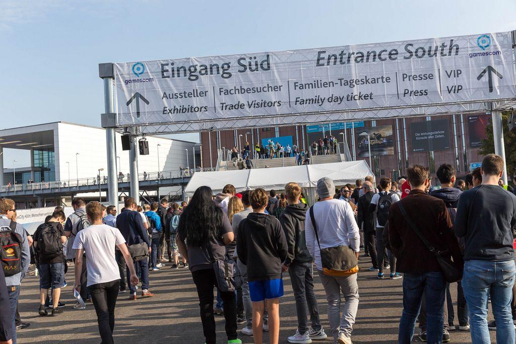 Eingang Messegelände Koelnmesse - Gamescom 2017, Köln