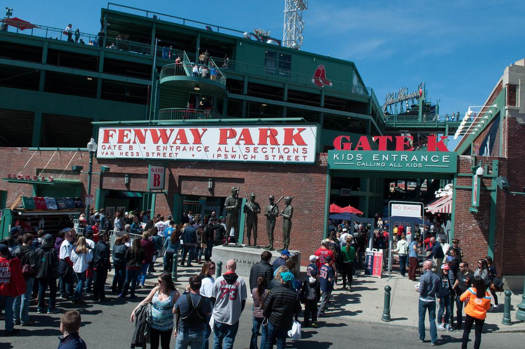 Eingang zum Fenway Park in Boston, USA