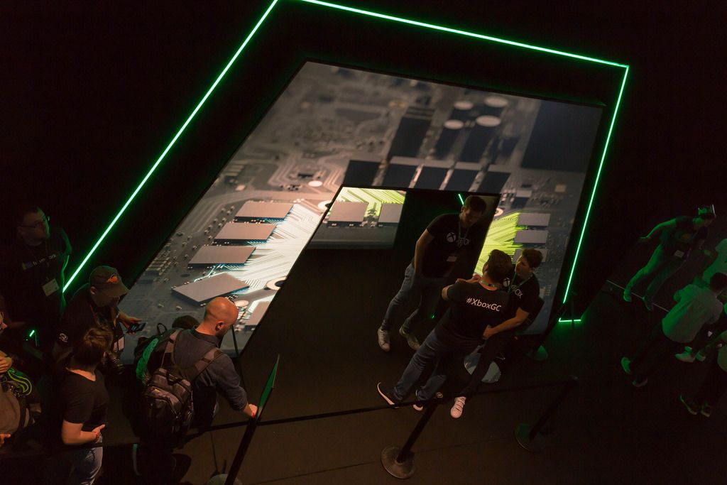 Eingang zum Xbox-Präsentationsraum - Gamescom 2017, Köln