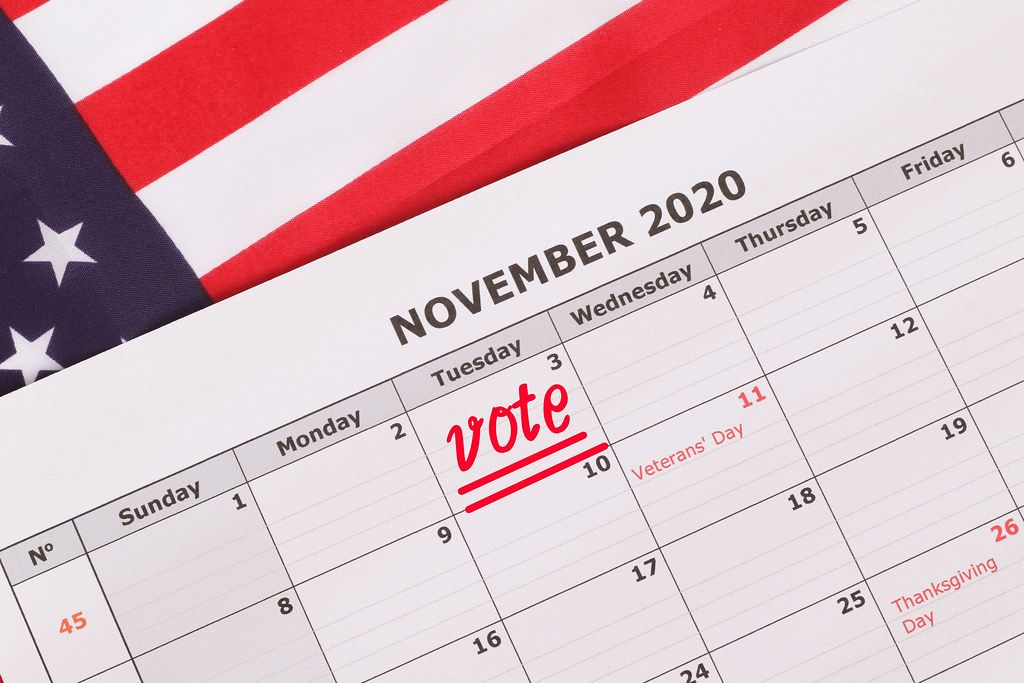 Election Day reminder in calendar