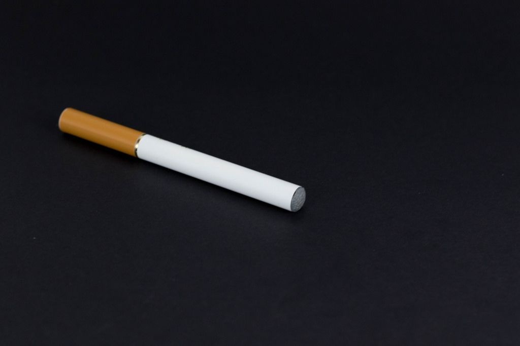 Electronic cigarette on black background