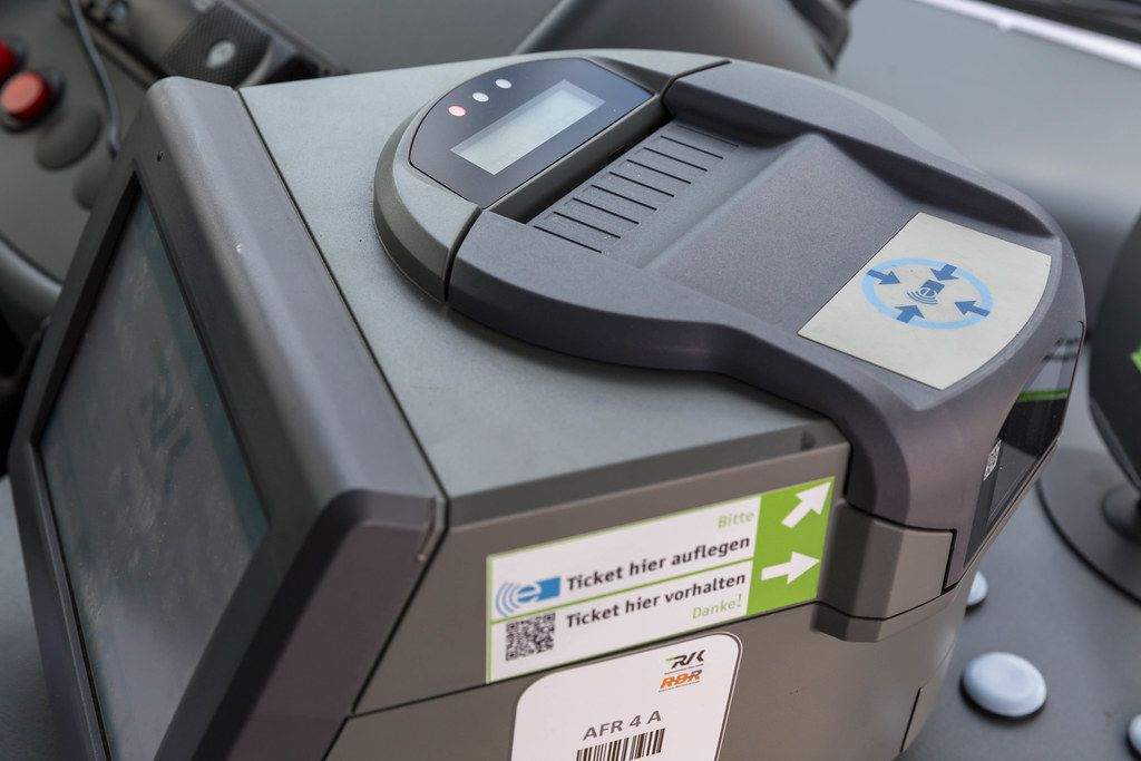Electronic ticket control at Cologne public transportation and city buses