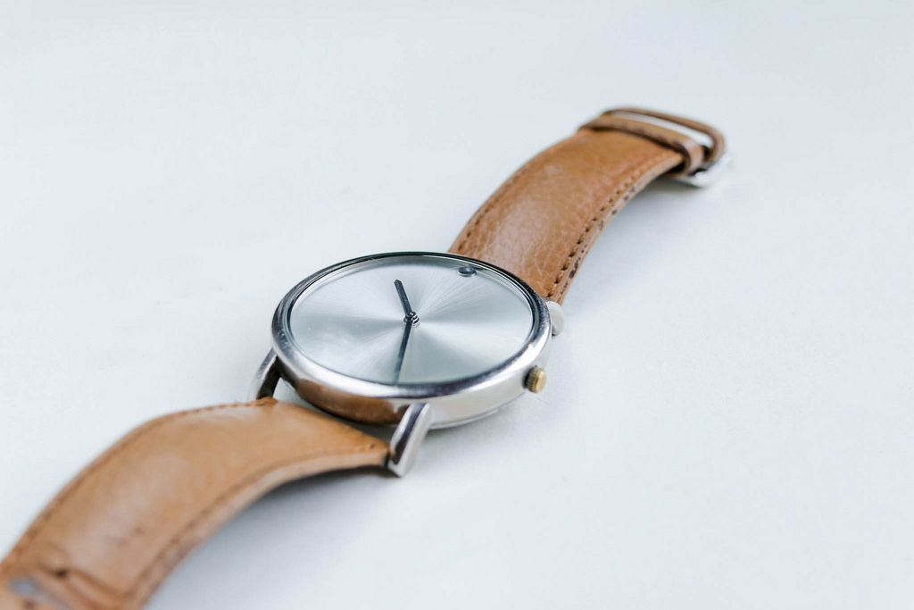 Elegant woman's watch, close up
