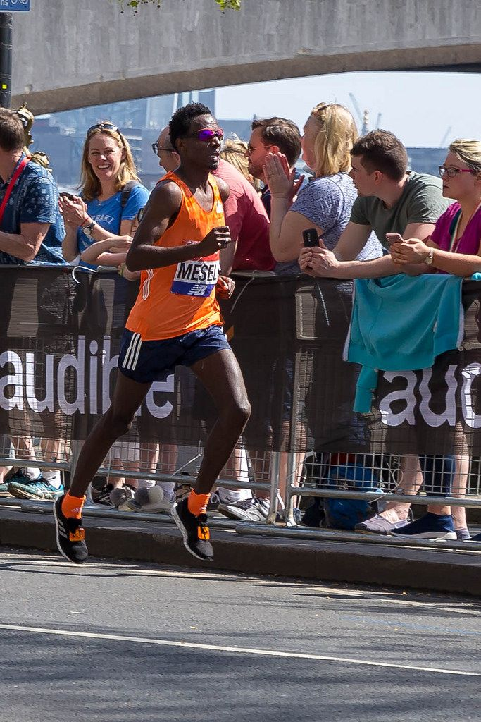 Elite runner Amanuel MESEL - London Marathon 2018