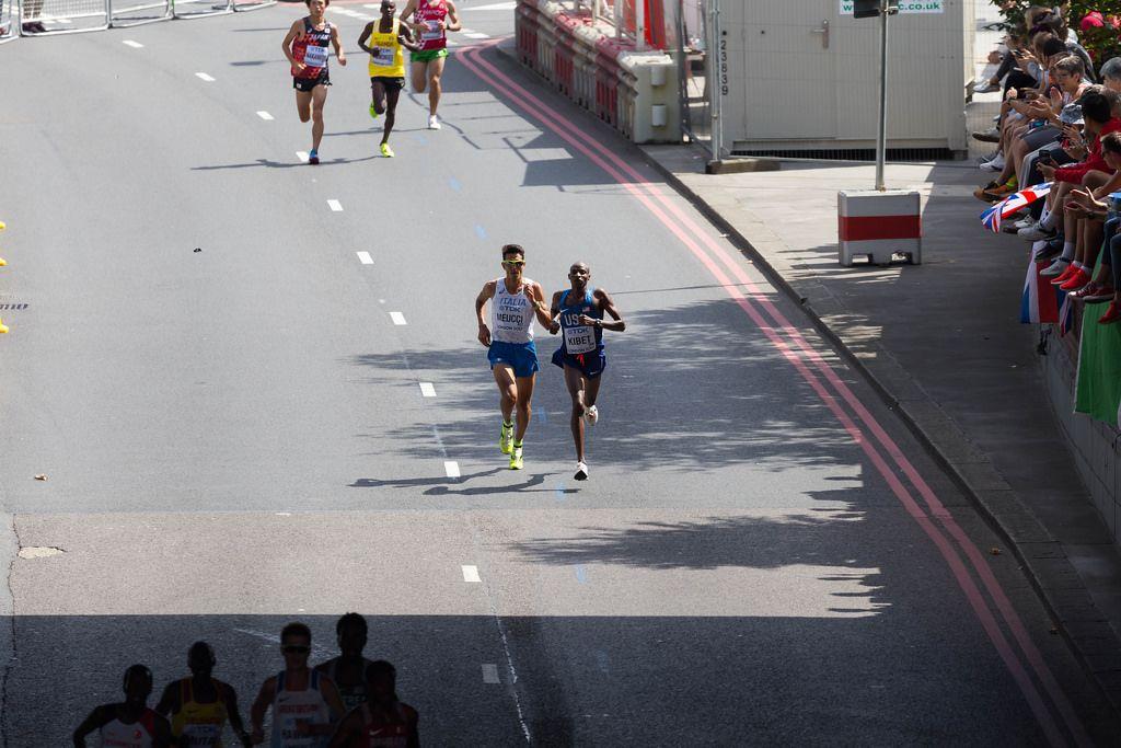 Elkanah Kibet und Daniele Meucci  (Marathon Finale) bei den IAAF Leichtathletik-Weltmeisterschaften 2017 in London