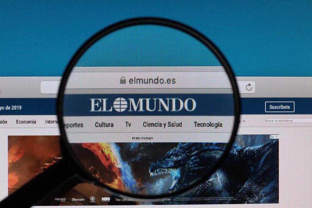 Elmundo logo under magnifying glass