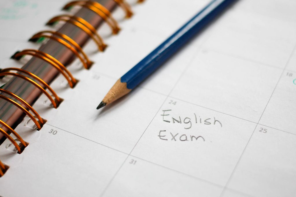 Englischprüfung im Kalender