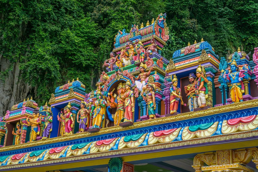 Entrance Gate with Sculptures of Batu Caves in Kuala Lumpur