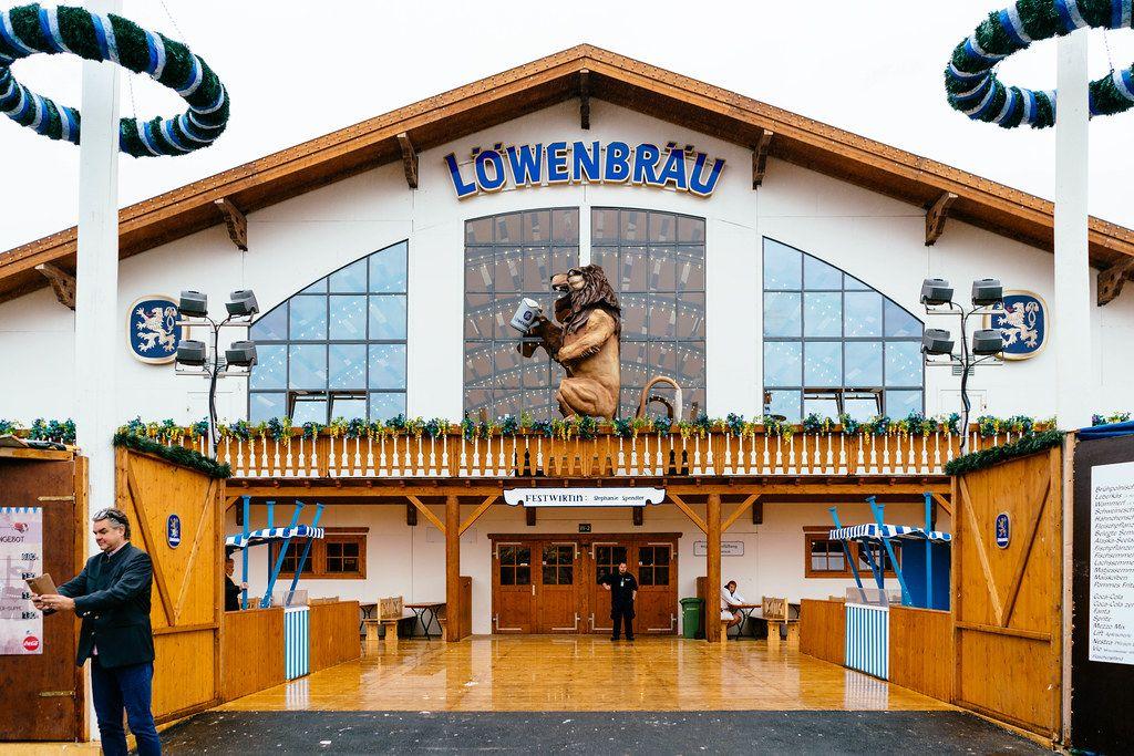 Entrance to Löwenbräu tent at Oktoberfest