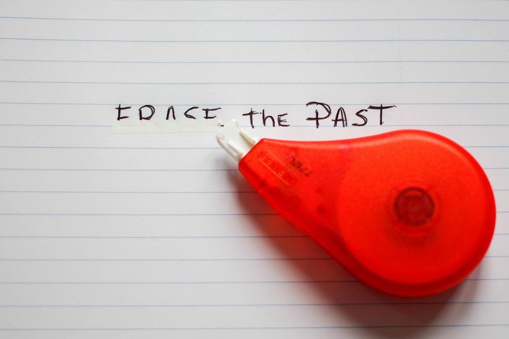 Erase the Past Words with Liquid Paper