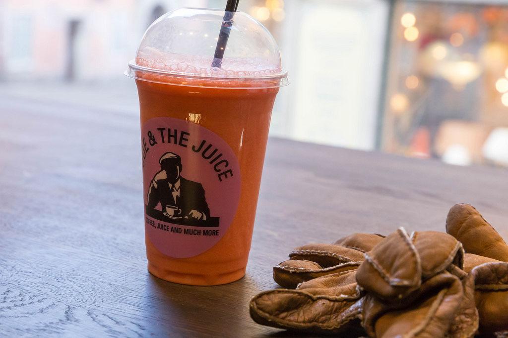 Erdbeer-Smothie von Joe & the Juice in Stockholm