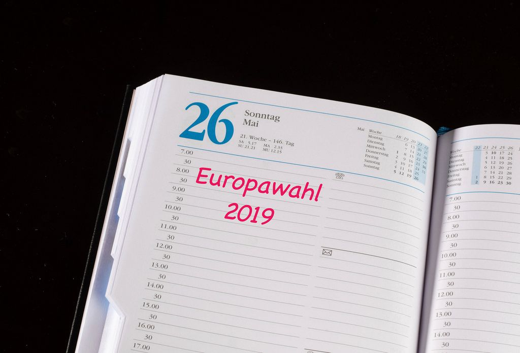 European Elections date marked in notebook