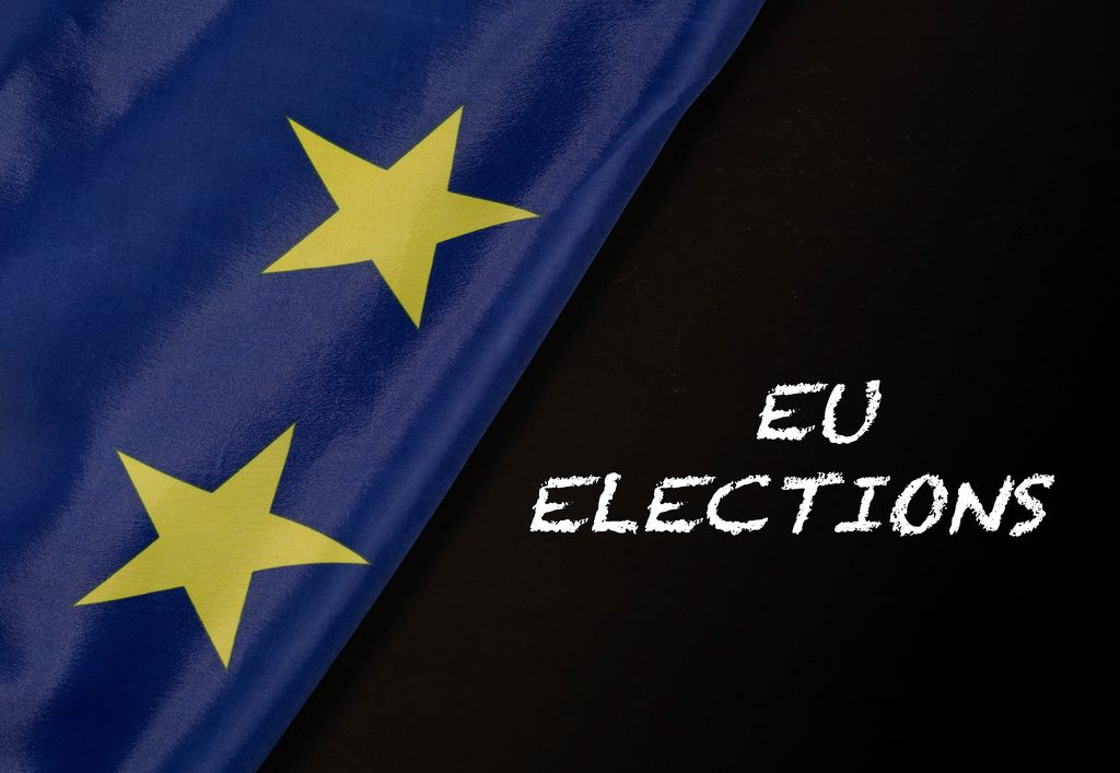 European Union flag with EU elections text