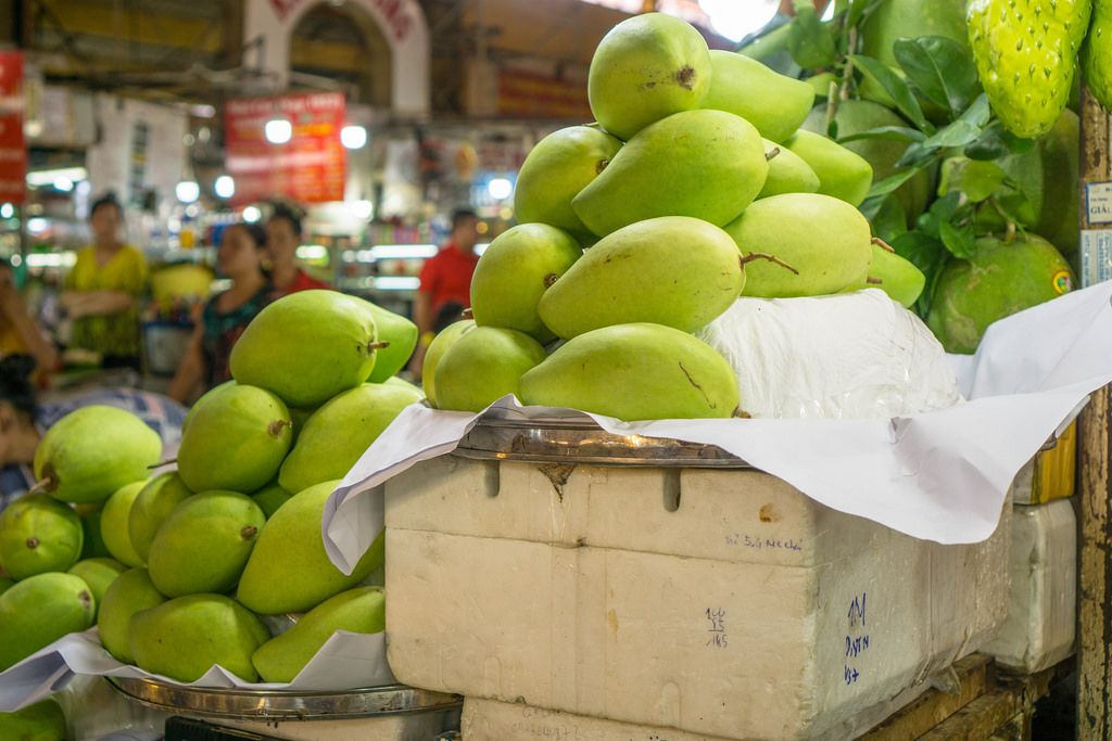 Exotic Fruits offered at Ben Thanh Market in Saigon