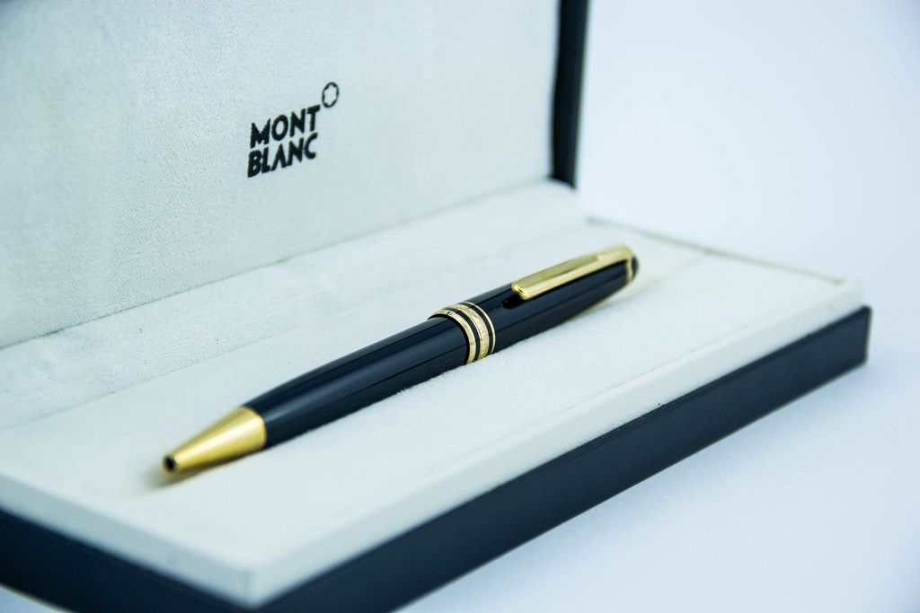 Expensive Mont Blanc Pen on a White Background