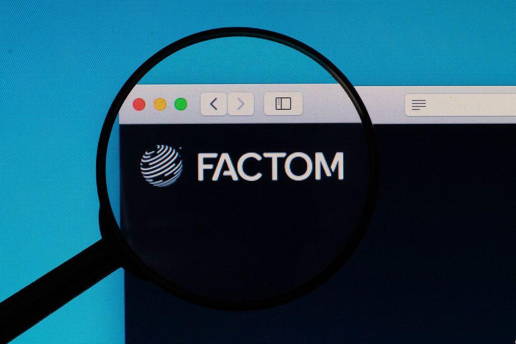 FACTOM logo under magnifying glass