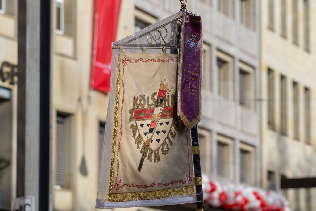 Fahne der Kölschen Narrengilde - Kölner Karneval 2018