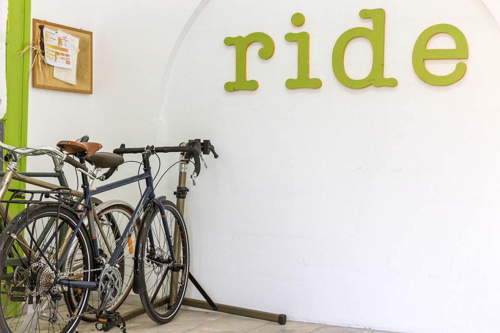 Fahrradverleih in Naoussa, auf der griechischen Insel Paros