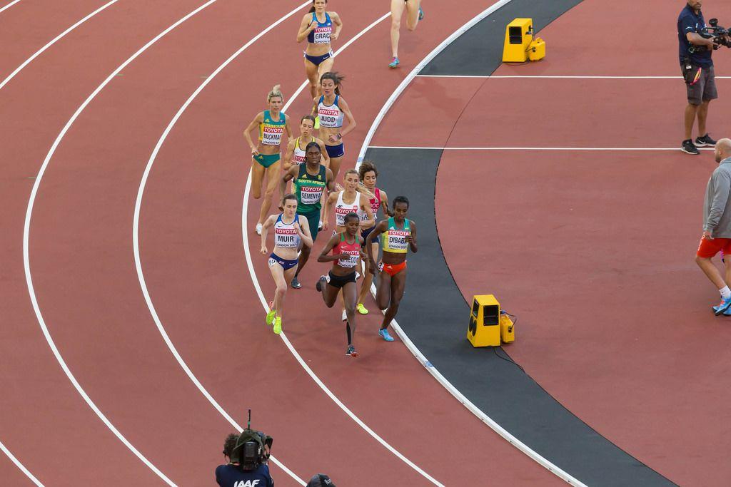 Faith Chepngetich Kipyegon, Laura Muir und weitere 1500-Meter-Läuferinnen bei den IAAF Leichtathletik-Weltmeisterschaften 2017 in London