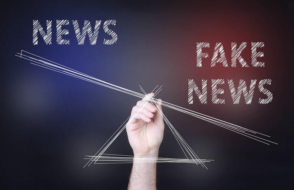 Fake news outweighting news concept