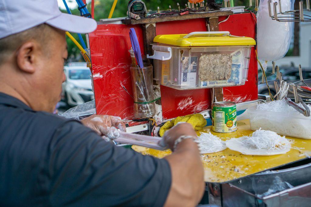 Famous Vietnamese Dessert Bo Bia sold in Ho Chi Minh City, Vietnam